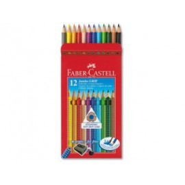 Lapiz 12 color-grip Faber-Castell