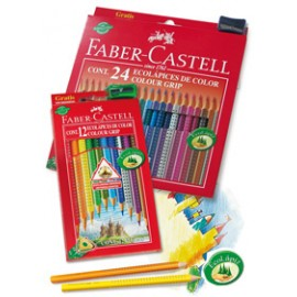 Lapiz 24 color-grip Faber-Castell