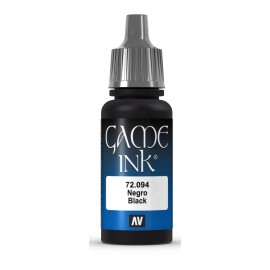 Game Ink Negro 17ml VALLEJO