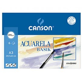 Pack 6 Basik 370g 297x420 A3 CANSON