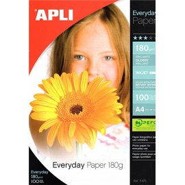 Papel Foto 180g 100h A4 Everyday Apli