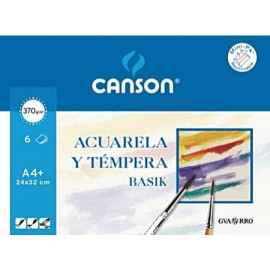 Pack 6 Basik 370g 24x32-A4+ CANSON