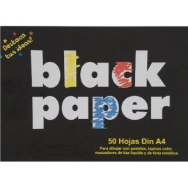 Papel Negro Mate 80gr  A4 Pack 50h