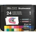 Set 24 Rotuladores BrushMarker